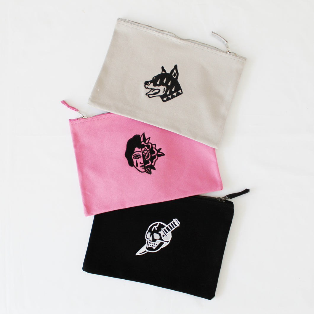 MSG Embroidered Zip Pouch