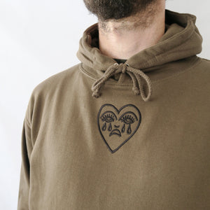 Crying Heart Embroidered Hoodie
