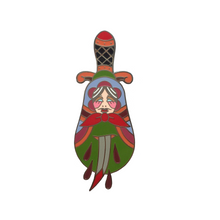 Load image into Gallery viewer, Russian Doll Dagger Pin x Hannah Purnell