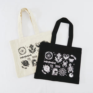 Tattoo Flash Pocket Tote Bag
