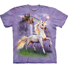 Load image into Gallery viewer, The Mountain Unicorn Castle Tie Dye T-shirt