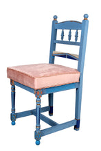 Load image into Gallery viewer, Oak Blue Chair