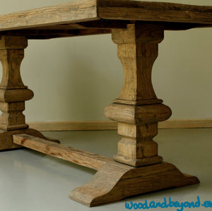 Rustic dining table detail