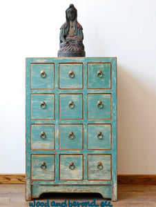 12 Drawer console