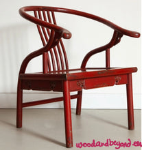 Load image into Gallery viewer, Antique Red Armchair