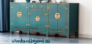 Turquoise Chinese Sideboard
