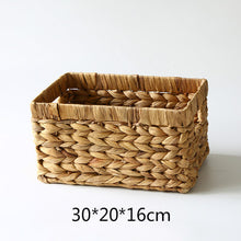 Load image into Gallery viewer, Natural Straw Rectangular Basket