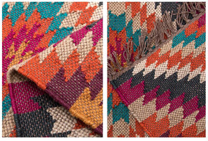 Hand-Woven Jute and Wool