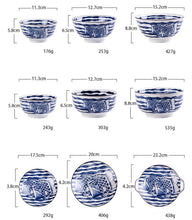 Load image into Gallery viewer, Japanese Style Plate Set Hand Painted  Porcelain