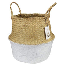 Load image into Gallery viewer, Seagrass Weaving Foldable Basket