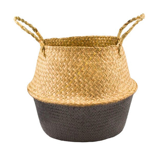 Seagrass Weaving Foldable Basket