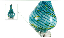 Load image into Gallery viewer, Blue Green Glass Table Lamp