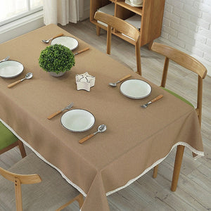 Linen Tablecloth in Different Colors