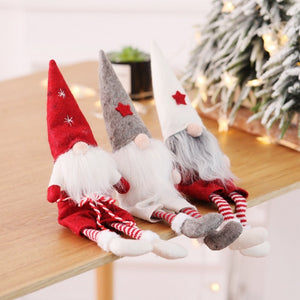 Cute Christmas Decoration No Face Elf Doll