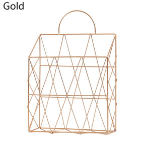 Iron Net Wall Hanging Storage Basket
