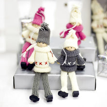 Load image into Gallery viewer, Christmas Woolen Sweater Dolls Tree Pendants  2 Pieces