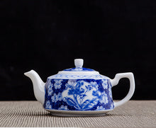 Load image into Gallery viewer, Porcelain 300ml Teapot Hand Painted Blue and White