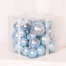 Load image into Gallery viewer, Pink  Rose Gold Pearl Christmas Balls 37 Pieces 4-8cm 3-10cm