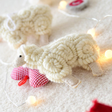 Curly Sheep Christmas Tree Pendant