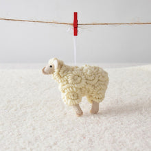 Load image into Gallery viewer, Curly Sheep Christmas Tree Pendant