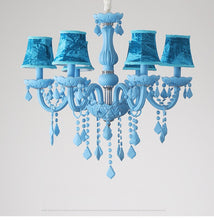 Load image into Gallery viewer, Modern Blue Chandelier