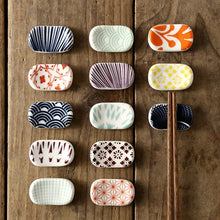 Load image into Gallery viewer, Porcelain Tableware Japanese Chopsticks Rack Bracket