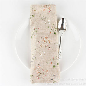 Floral Placemat in Linen and Cotton