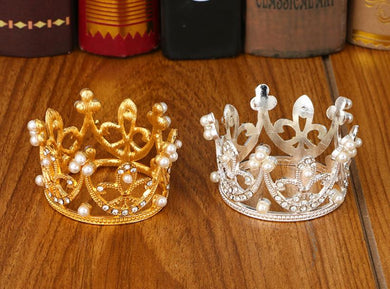 Napkin Ring Crown Shape With Pearls