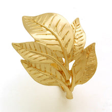 Load image into Gallery viewer, Golden Leaves 6 Pieces  Napkin Ring
