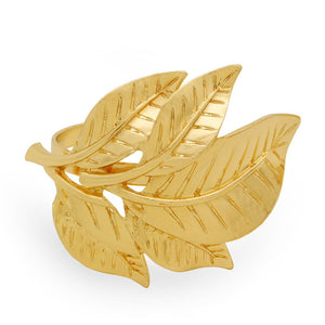 Golden Leaves 6 Pieces  Napkin Ring