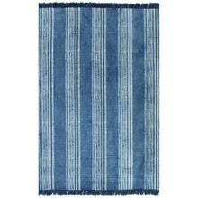 Load image into Gallery viewer, Cotton 120x180 cm Blue Stripe Kilim