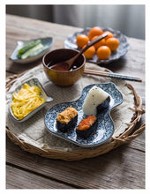 Load image into Gallery viewer, Japanese Modern Tableware Blue and White
