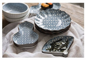 Japanese Modern Tableware Blue and White