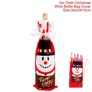 Santa Claus Wine Bottle Cover Christmas Decoration