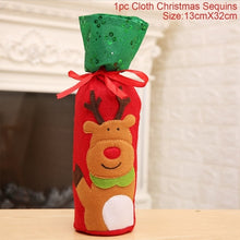 Load image into Gallery viewer, Santa Claus Wine Bottle Cover Christmas Decoration