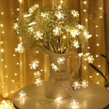 Load image into Gallery viewer, LED Snowflake Fairy String christmas Lights 1m 3m 6m