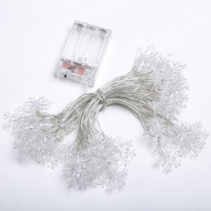 LED Snowflake Fairy String christmas Lights 1m 3m 6m