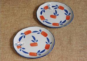 Carrot Pattern Plate