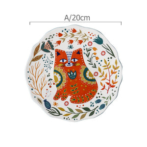 Flower Kitten Dinnerware