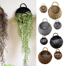Load image into Gallery viewer, Wall Hanging Natural Wicker Flower Basket