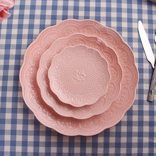 Load image into Gallery viewer, Rose Porcelaine Dinner Plates