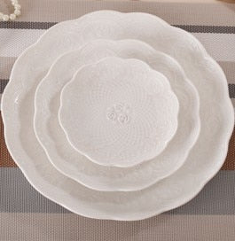 Rose Porcelaine Dinner Plates