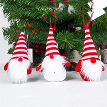 Load image into Gallery viewer, Christmas Tree Pendant Red and White