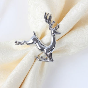 Two Pieces/Lot Christmas Deer Napkin Ring