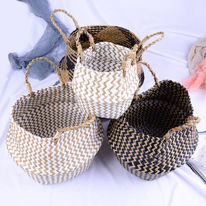 Handmade Natural Cane Storage Basket