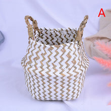 Load image into Gallery viewer, Handmade Natural Cane Storage Basket