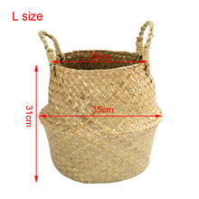 Load image into Gallery viewer, Handmade Bamboo Storage Basket