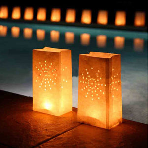 Paper Candle Tea Light Lantern 50 Pieces