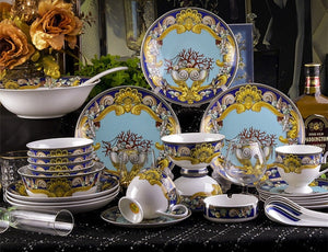 Dinnerware Porcelain Botanical Set