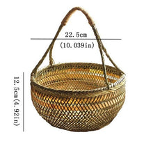 Load image into Gallery viewer, Round large bamboo handmade organizer baskets